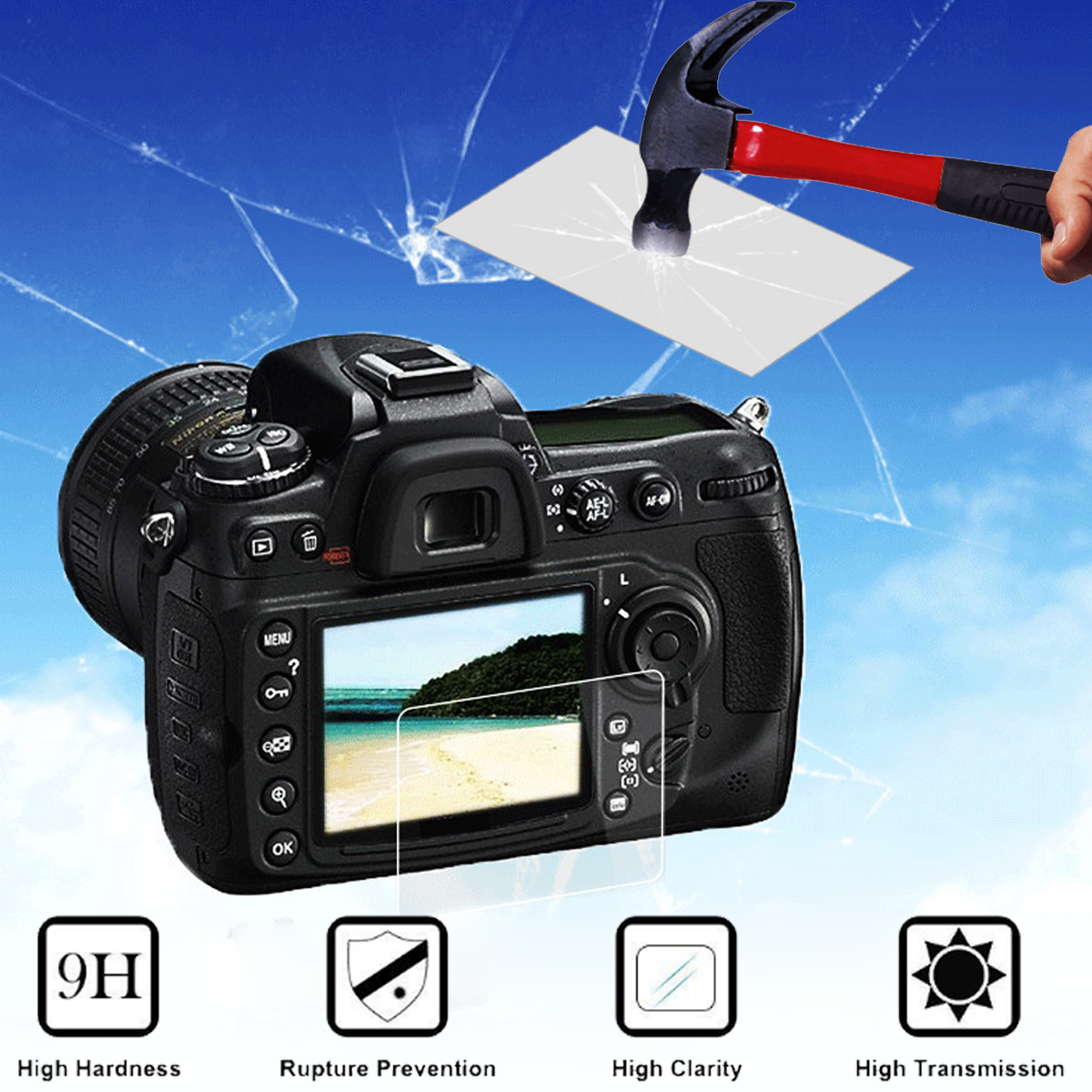 Camera Tempered Glass Film Screen Protector Film for Canon EOS 5D Mark III MK IV 5DS