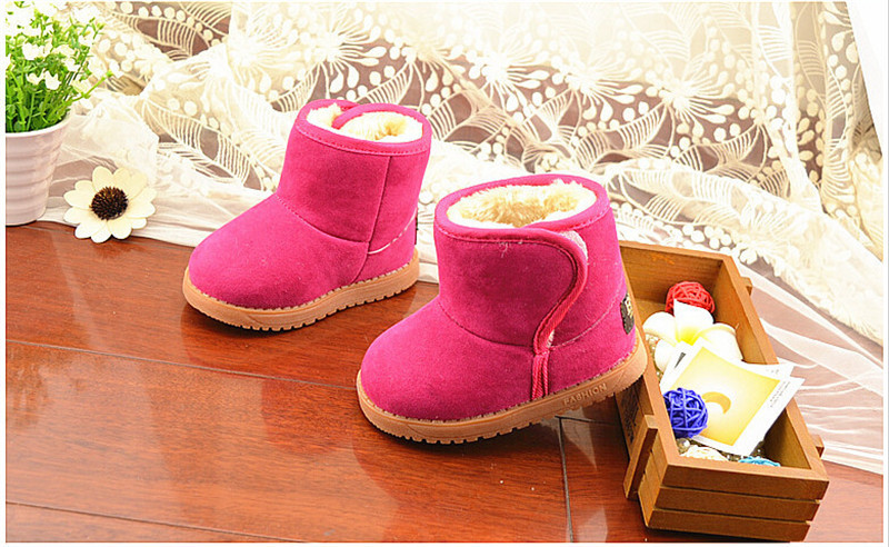 Child Girl Boy Thicken Warm Baby Classic Snow Boots Children Plush Fur Winter Shoes