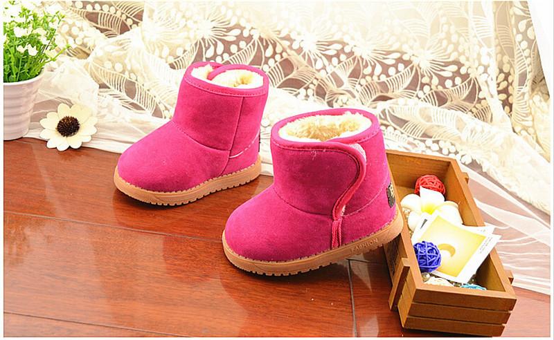 Child Girl Boy Thicken Warm Baby Classic Snow Boots Children Plush Fur Winter Shoes