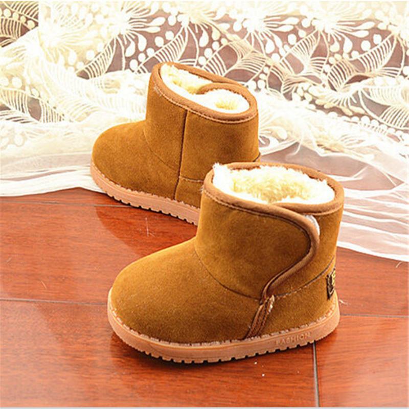 Image of Kind Mädchen Jungen verdicken warme Baby Klassiker Snow Boots Kinder Plüschfell Winterschuhe