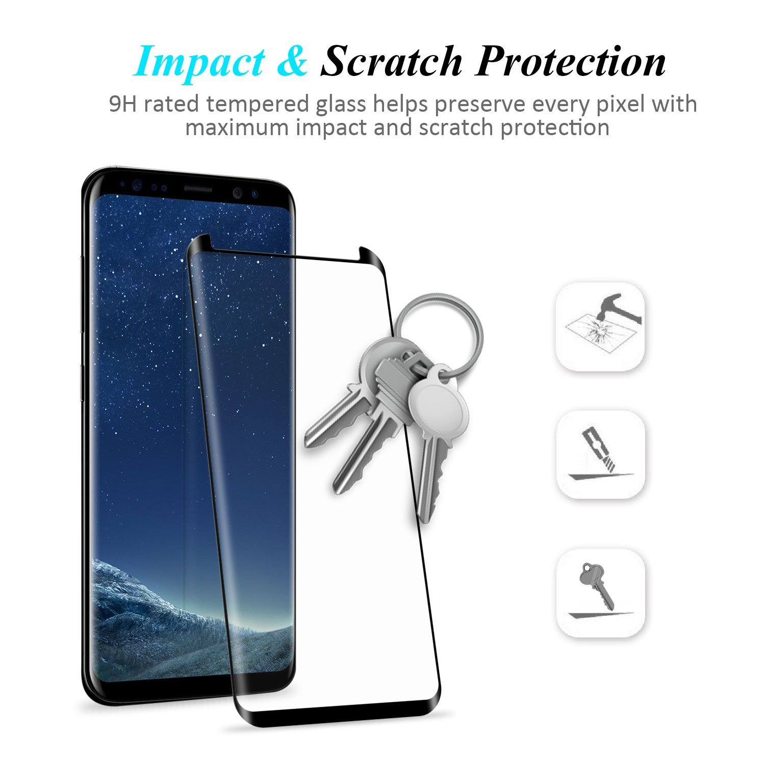 Bakeey Full Adhesive 3D Curved Edge Case Friendly Tempered Glass Screen Protector For Samsung Galaxy Note 8