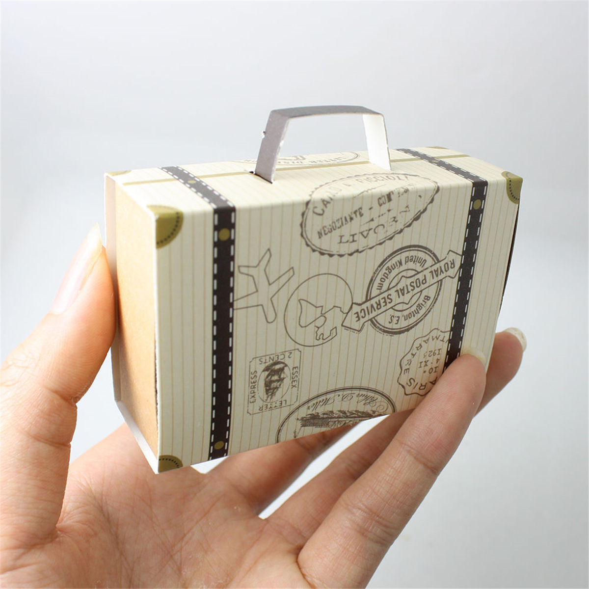 50/100PCS Suitcase Drawer Design Wedding Party Favour Gift Candy Storage Decorations Paper Boxes