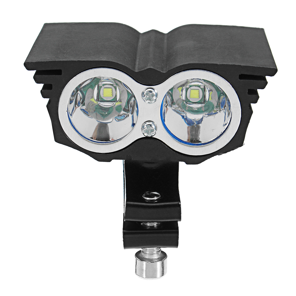 Pair 12/24V 20W 6000K Eagle Eye Styling LED Spotlight Motorcycle Headlight Auxiliary Fog Lamp