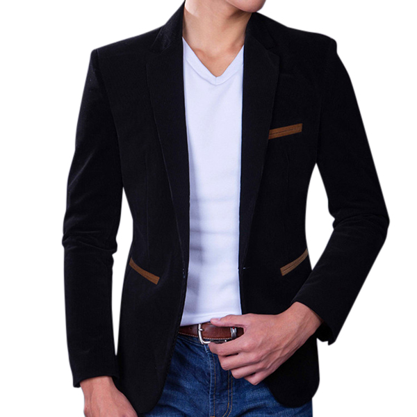 Men Fashion Business Casual Slim Fit Suit Coat Blazers