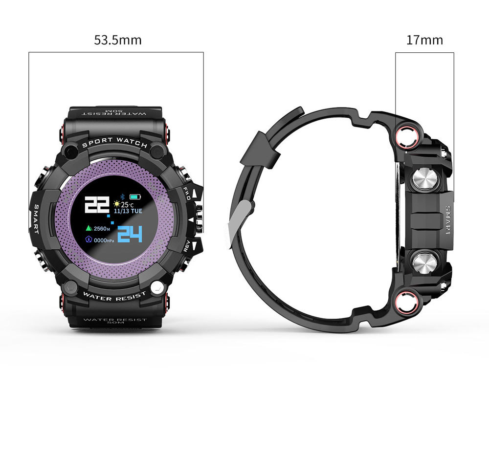 LOKMAT MX161.0'' Color Screen 5ATM Waterproof Smart Watch Heart Rate Monitor Find Phone Cloud Sevice Fitness Exercise Sports Bracelet