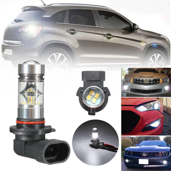 9005 HB3 50W LED 20-SMD Projector Fog Driving DRL Light Bulbs HID White