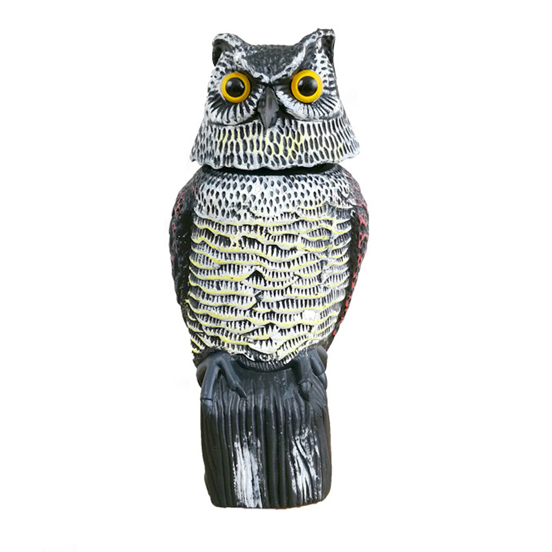 1Pcs Lifelike Shake Head Owl Bird Bunting Hunting Decoy
