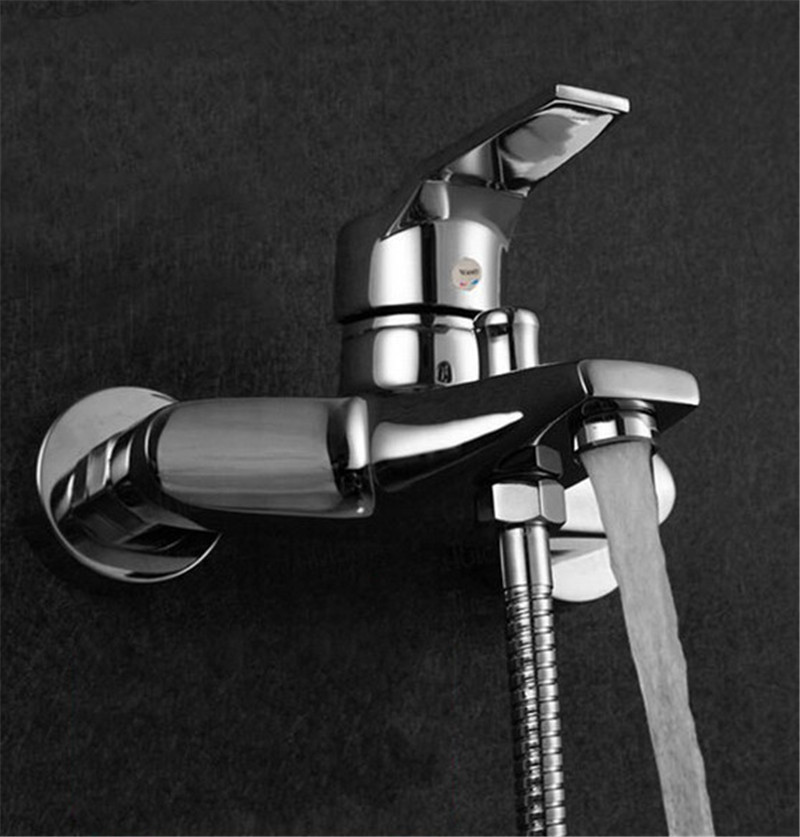 Modern Bathroom Tap Tub Shower Faucet Wall Mount Shower Head Bath Faucet Valve Mixer