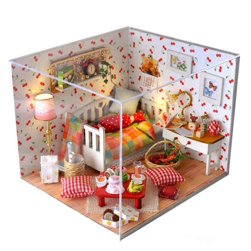 T-Yu TY12 Autumn Fruit House DIY Dollhouse With Cover Light Gift Collection Decor Toy