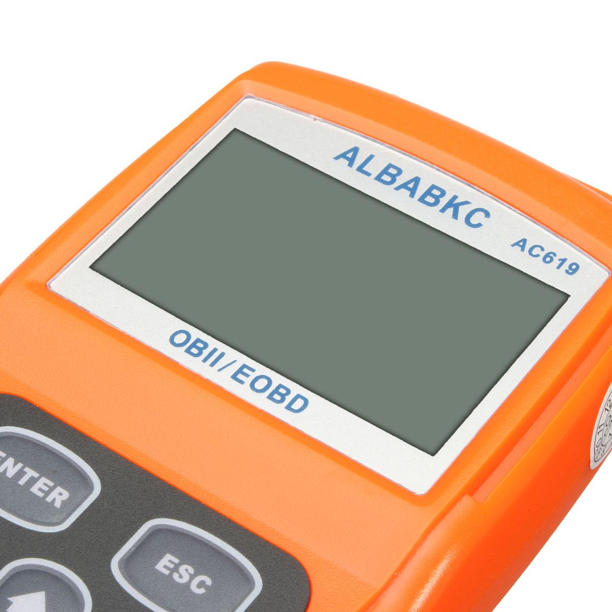 ALBABKC AC619 OBDII OBD2 EOBD Auto Fault Car Diagnostic Scanner Code Reader Tool
