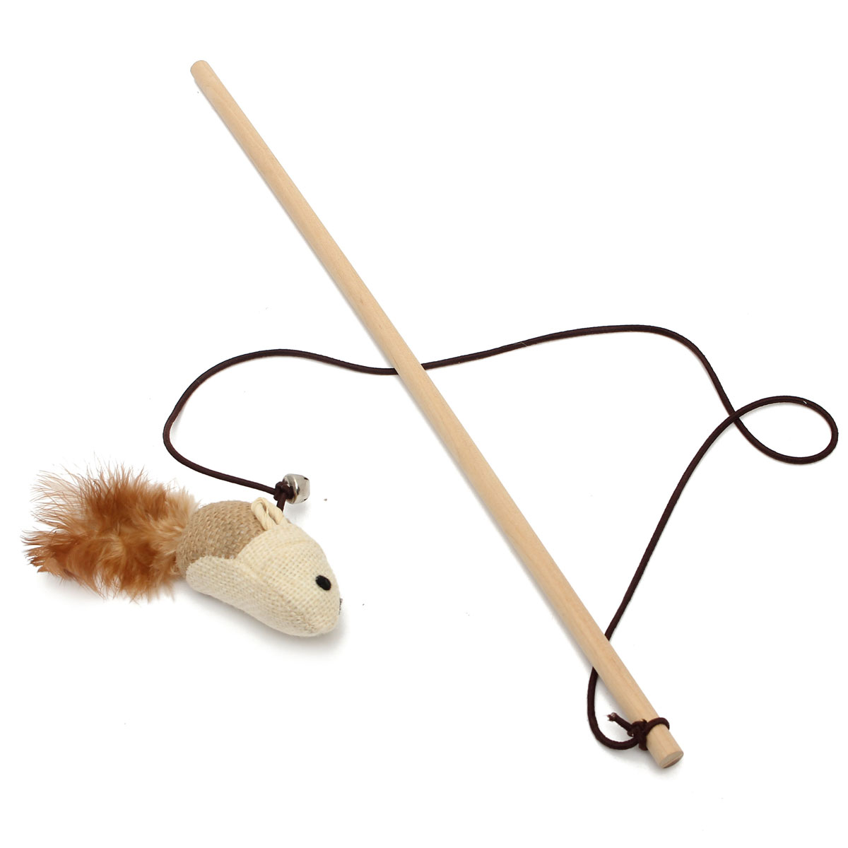 Pet Cat Kitten Toy Teaser Wand Mouse Ball Feather Play Toy
