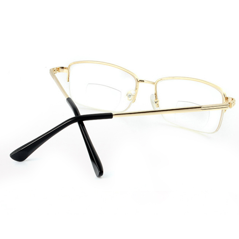 Metal Round Lightweight Bifocal Reading Glasses