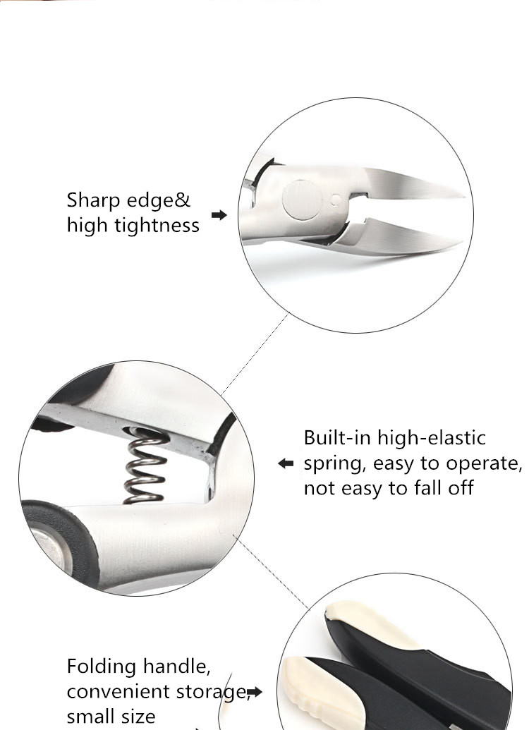 3 IN 1 Folded Ingrown Nail Clipper