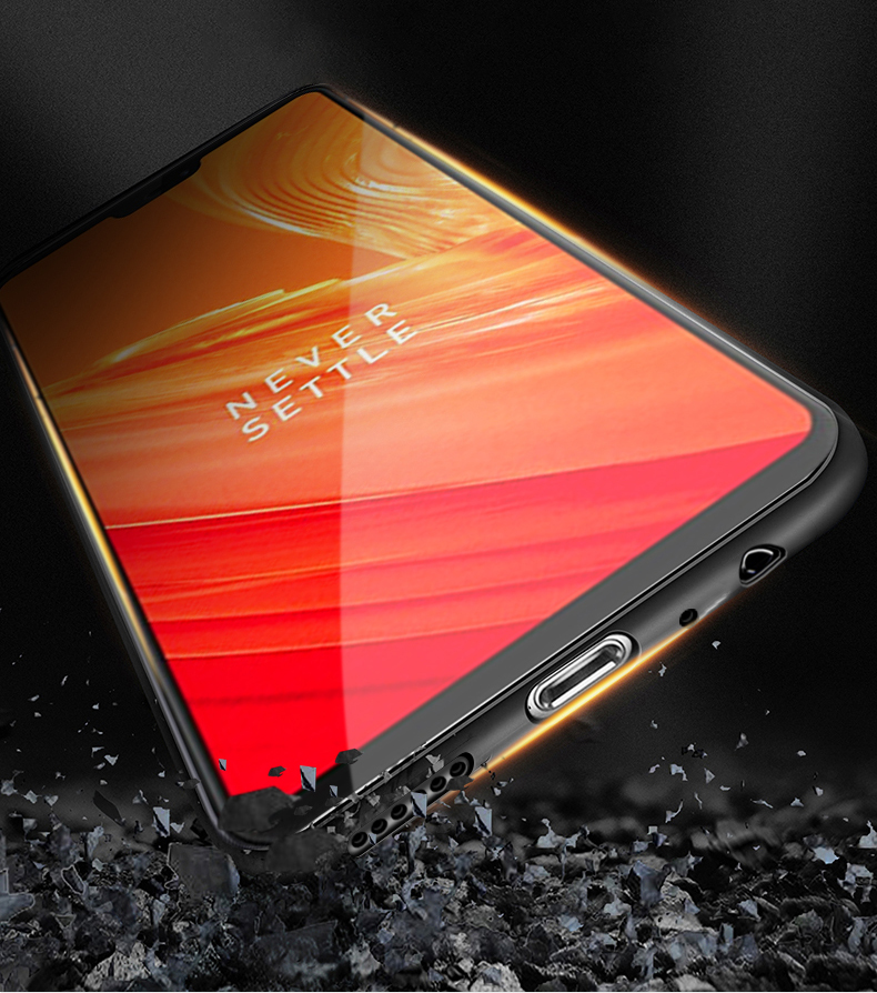 Bakeey Luxury Fabric Splice Soft Silicone Edge Shockproof Protective Case For OnePlus 6