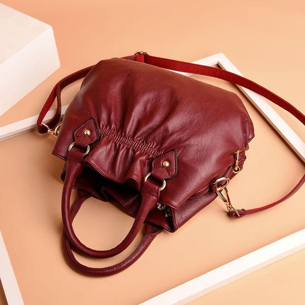 Women Pu Leather Handbag Crossbody Bag 3 Main Bags