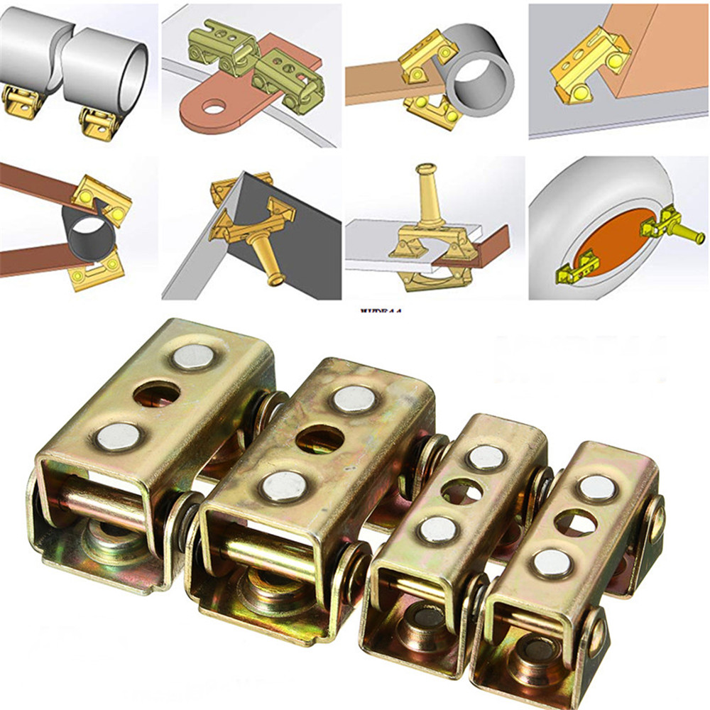 4pcs Adjustable Magnetic V-Pads Brass Strong Hand Tools MVDF44 For Butt Welding