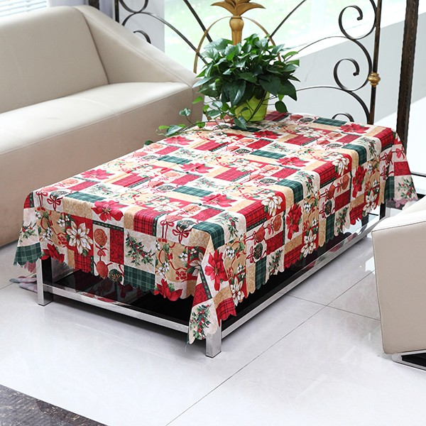 Christmas Tablecloth Cotton Tableware Mat Table Runner Tablecloth Desk Cover Bowl Heat Insulation