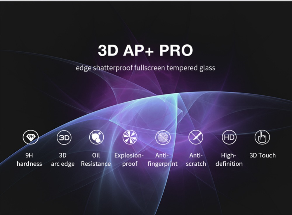 NILLKIN 0.23mm 3D AP+ Pro Edge Shatterproof Tempered Glass Film for iPhone 7 Plus 5.5 inch