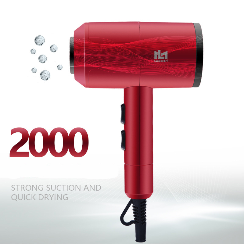 High Power Professional Negative Ion Hot Cold Warm Wind Mute Blow Hair Dryer Nozzle 2000W