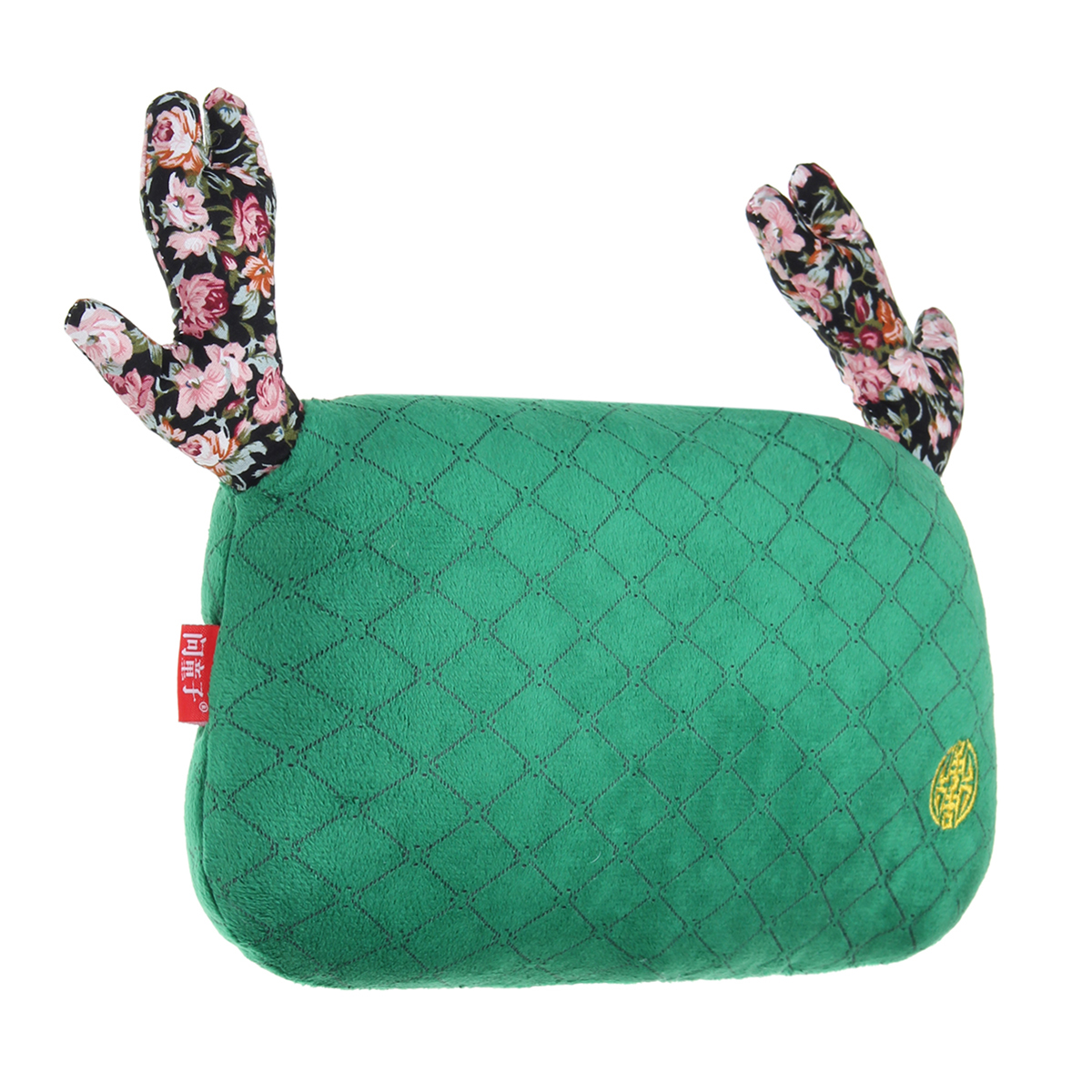 Christmas Deer Antlers Car Seat Headrest Neck Auto Pillow Cotton Cushion
