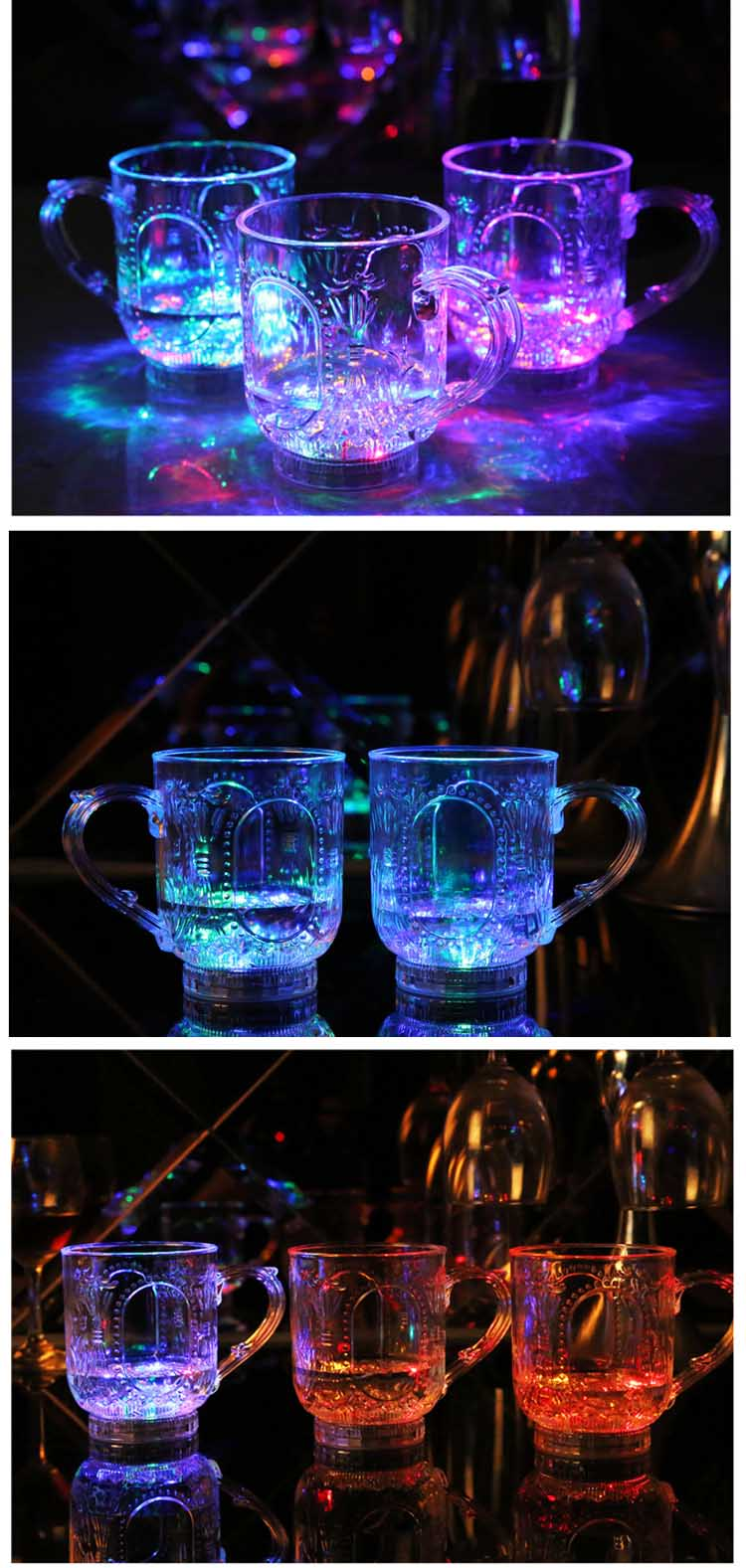 Bunte Induktive LED Wein Whisky Cup Glass Bar Party Getränke Cup ...