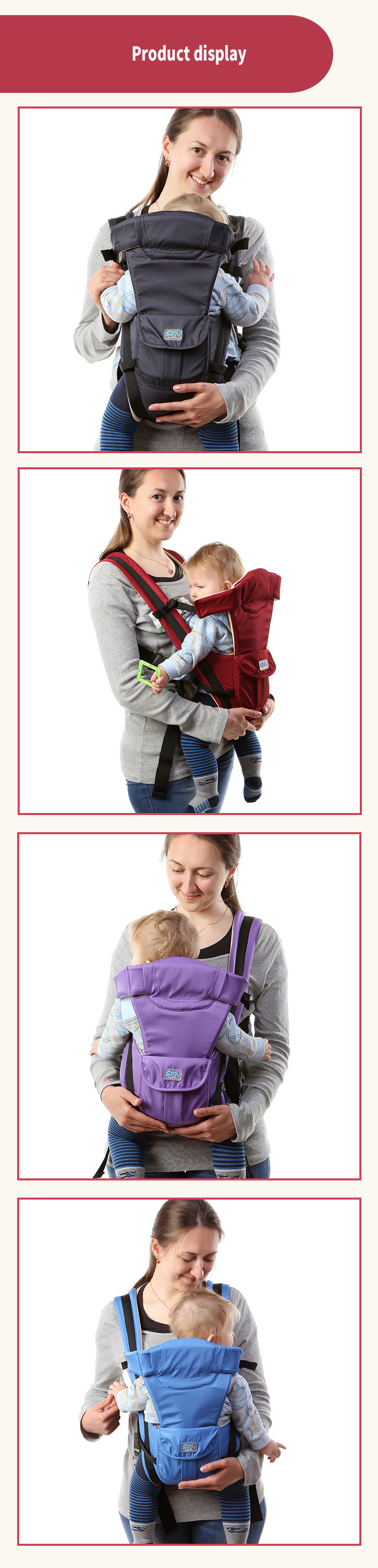 LeBiOu Portable Baby Carriers Hip Seat Ergonomic Spine Protection Babys Strap Bear 25kg for 3-36 Months Baby
