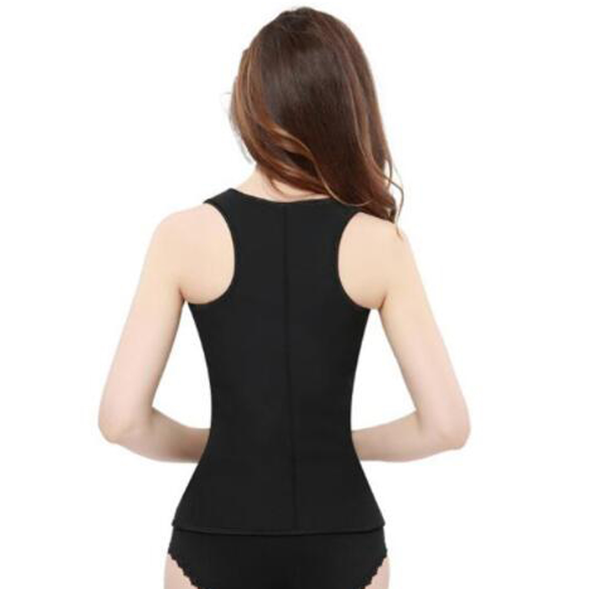 Neoprene Sauna Suit Sweat Vest Adjustable Waist Slim Trimmer Shaper