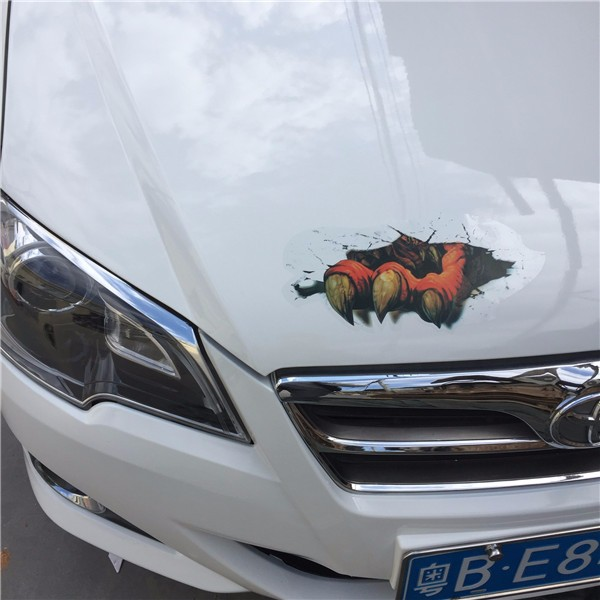 3D Simulated Car Sticker Ghost Paw Terrible Paw Stereoscopic Scratches Waterproof Decal 20X19CM 29X1