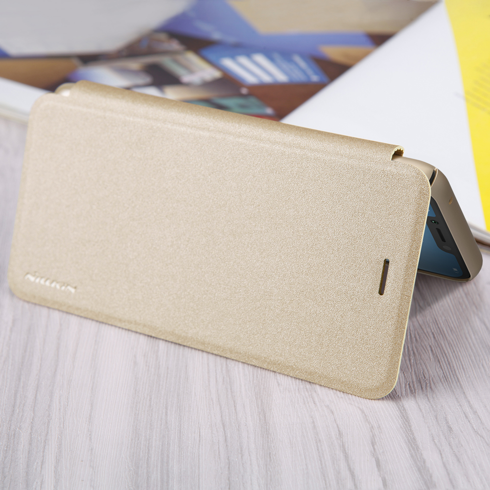 NILLKIN Shock-proof Flip PU Leather Full Body Cover Protective Case for Huawei Honor Play