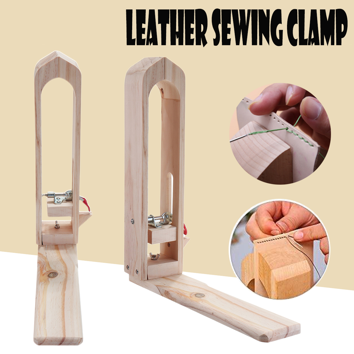 Leather Craft Stitching Lacing Horse Sewing Clamp Leather Table Desktop Tool