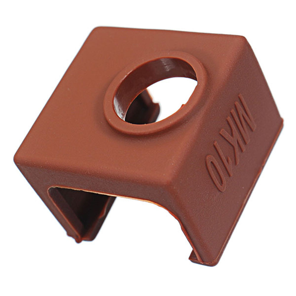3pcs MK10 Coffee Color Silicone Protective Case For Heating Aluminum Block 3D Printer Part Hotend