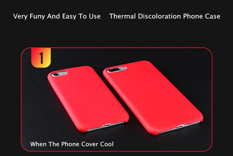 Physical Thermal Sensor Discoloration Soft TPU Shockproof Back Cover Case for iPhone 7/8