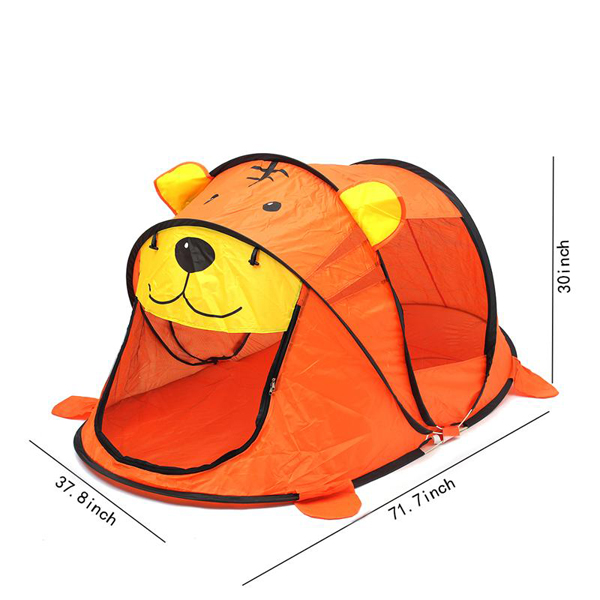 Tiger Camping Tent Foldable Child Portable Baby Toy Game Outdoor Indoor House
