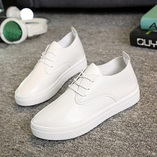 Women Platform Sneakers Lace Up Comfy Casual Sports Walking Shoes