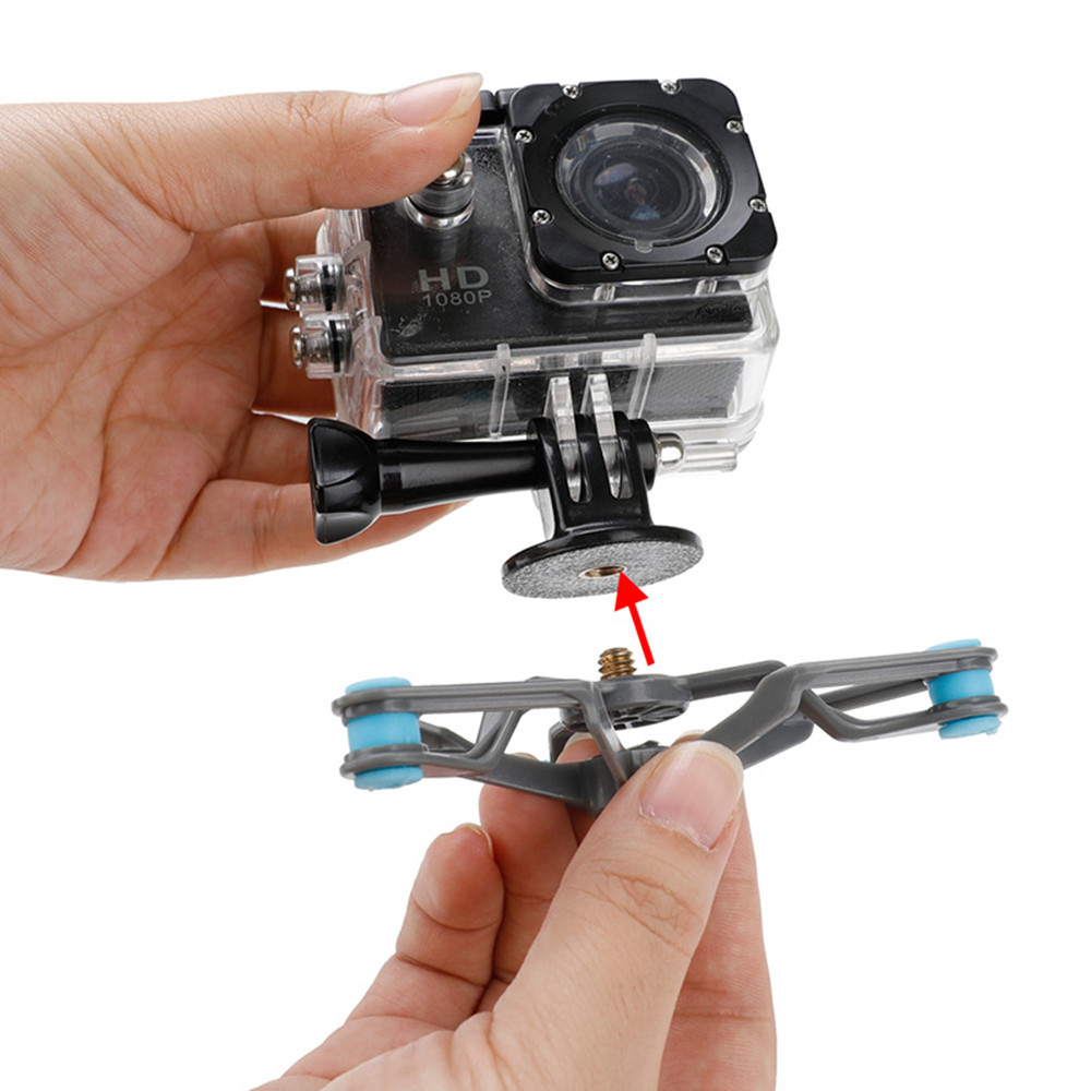 Bike Bicycle Bracket Damping Shock Absorber Mount Fixed Clip Tripod for OSMO Action Gopro Hero Camera Accessories - Photo: 12