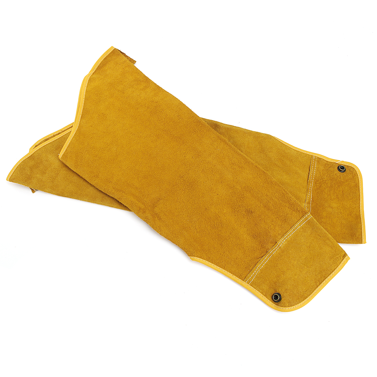Long Split Cowhide Leather Welding Sleeves Mig Tig Arc Protective Heat Safety Arm