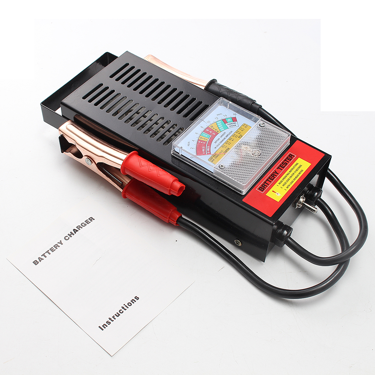 6/12V 100Amp Battery Load Tester Alligator Clip Heavy Duty Car Truck Checker
