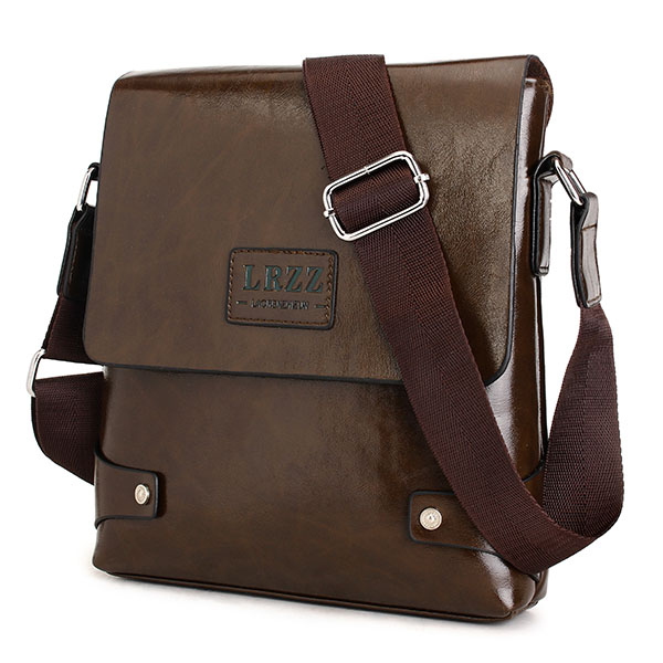 Men Business PU Casual Male Messenger Shoulder Crossbody Bag Briefcase