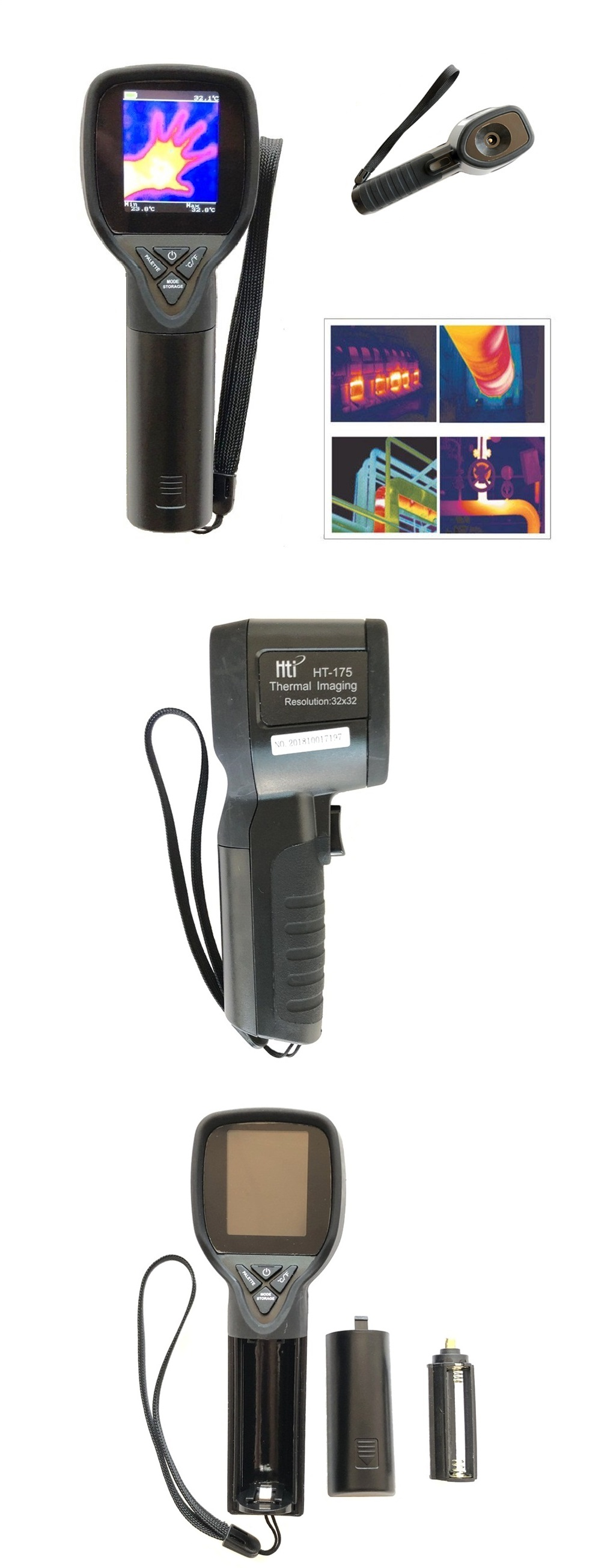 New Ht-175 Imager Camera Digital Thermal Imaging Camera Ir Infrared Thermometwr Spare No Cost At Any Cost Altro Apparecchiatura Pro Apparecchiature Professionali