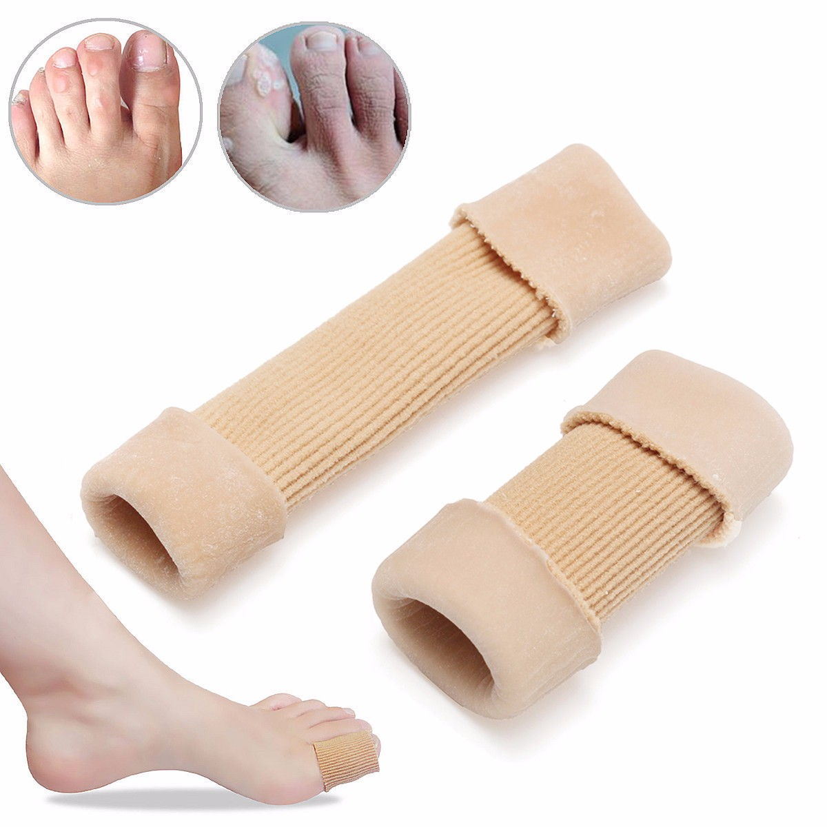 Squishies Gel Tube Toe Finger Bandage Cuttable Cover Cap Protector For Skin Dry Corns Blisters Pain Relief
