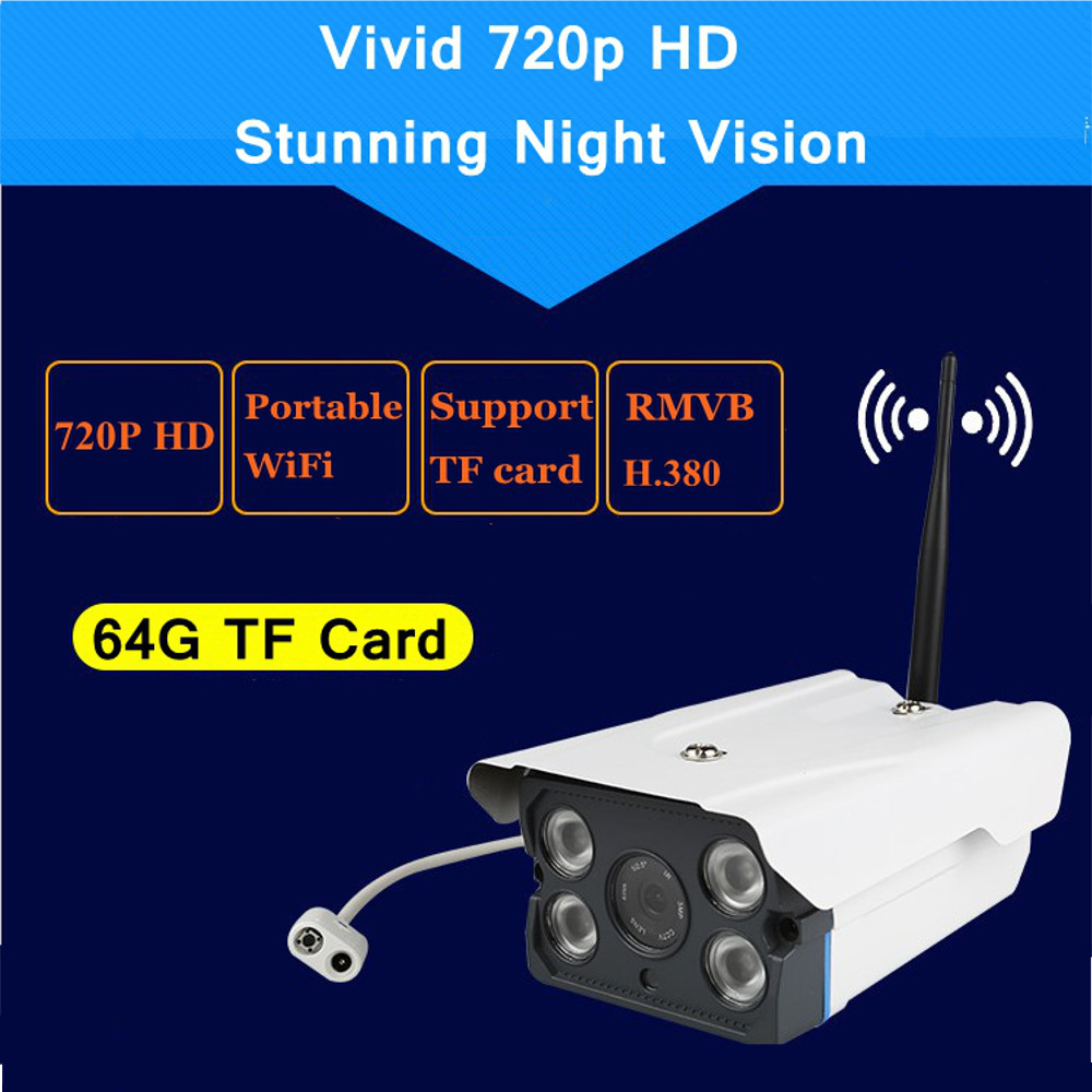 720p HD Outdoor Home Wireless Security Surveillance Video IP Camera System