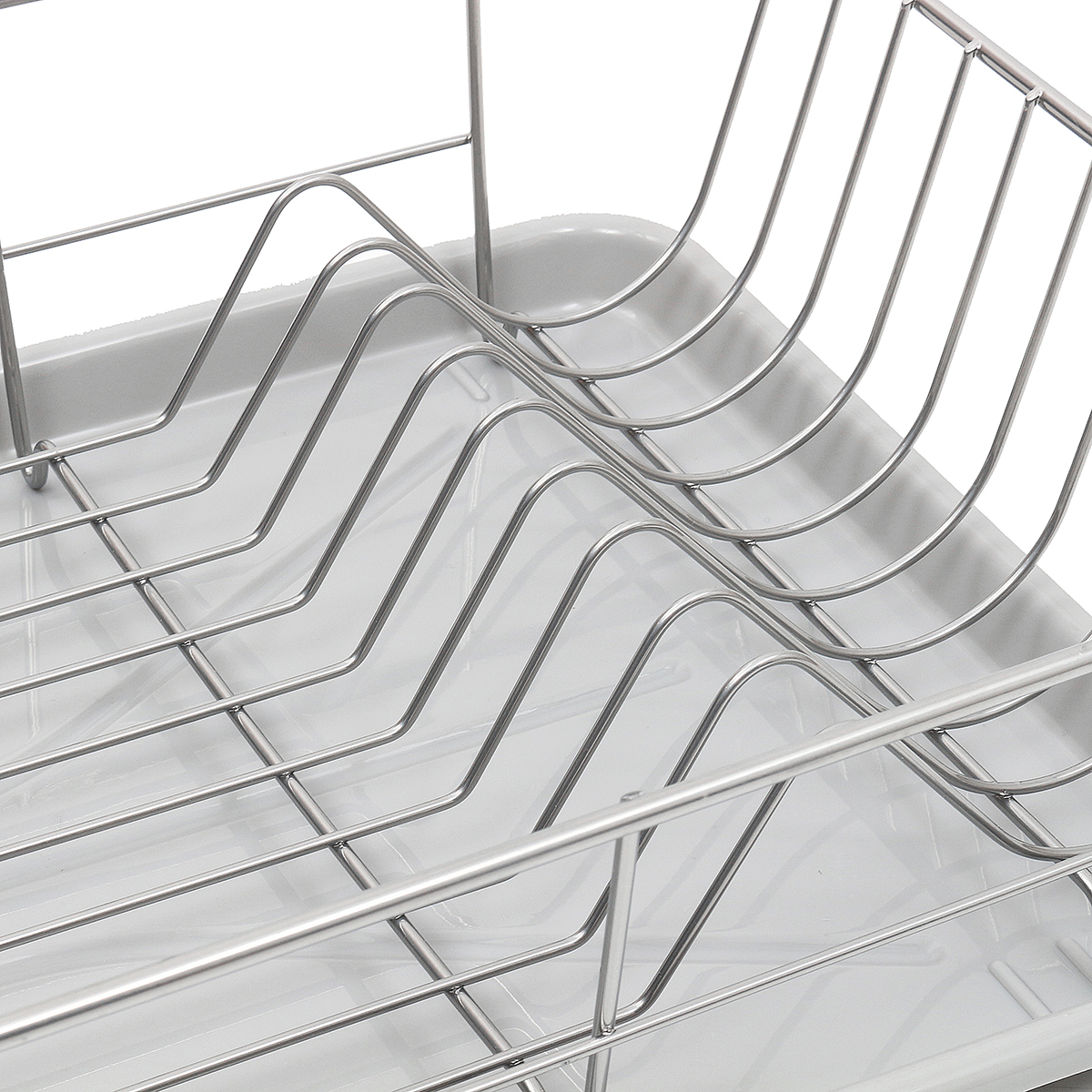 Stainless Steel Kitchen Dish Cup Plate Rack Utensil Holder Tray Drainer Drying Kitchen Storage Rack