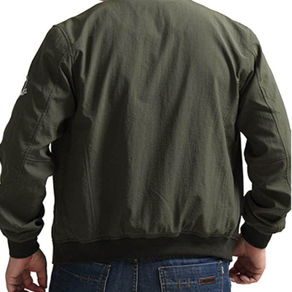 Plus Size S-5XL Loose Spring Varsity Jacket Flight Jacket