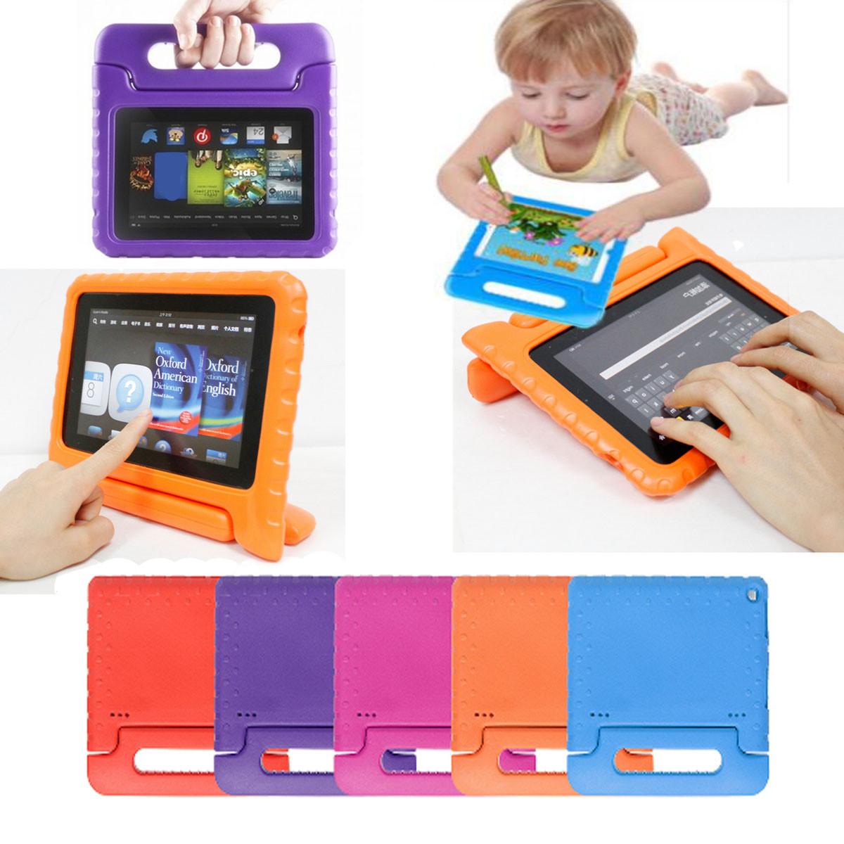 Kinder Tasche Schutz Hülle EVA Handle Case Cover für Kindle Amazon Fire HD 8