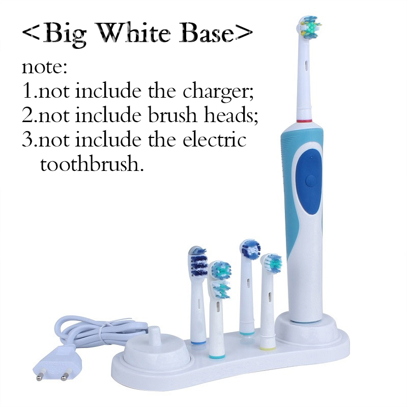 Oral-B White Electric Toothbrush Stander Support Toothbrush Storage Box Teeth Brush Heads Caps
