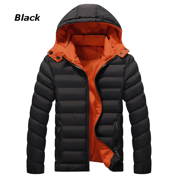 Winter Thick Warm Hooded Zipper Men Padded Jackets