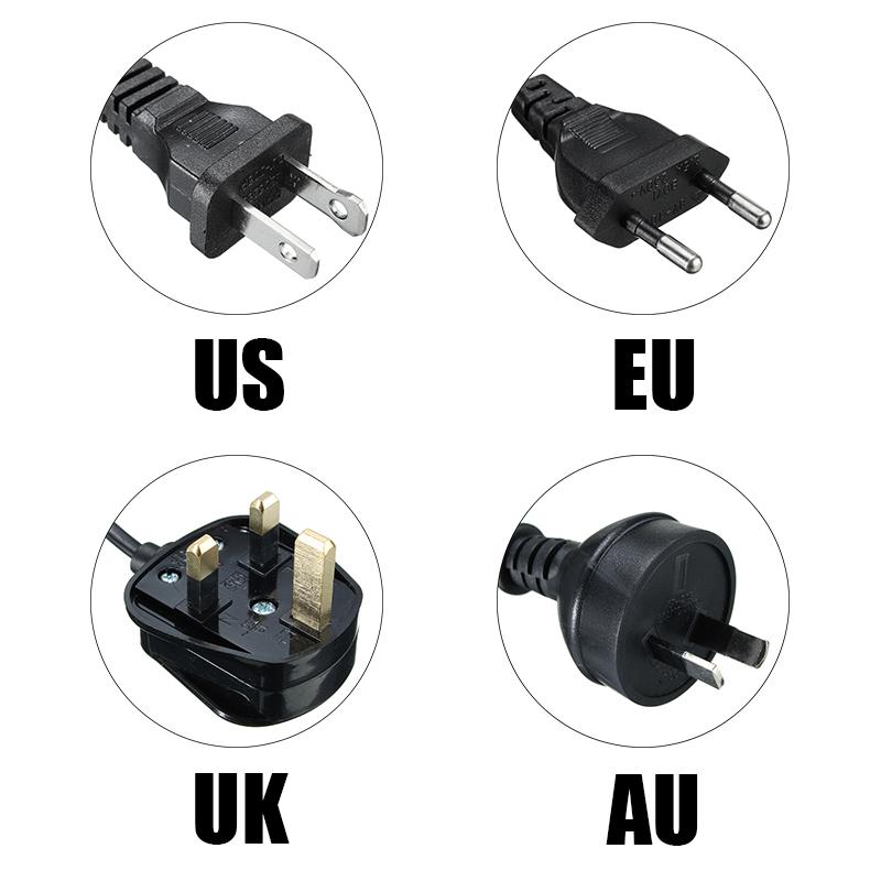 1.8M E14 Base Lamp Himalayan Salt Electric Power Switch White Black US EU UK AU Plug