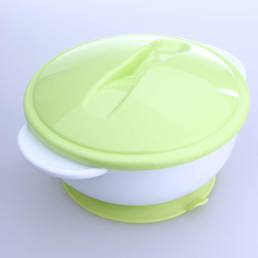 Baby Feeding Sucker Bowl with Temperature Sensing Spoon Suction Cup Bowl Dishes Tableware