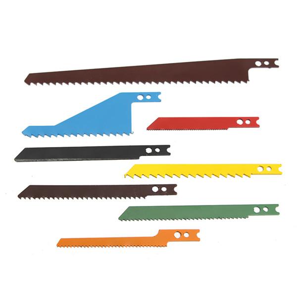 8pcs Jigsaw Blades Sabre Scroll Assortment Set Wood Metal Steel Drywall Blades