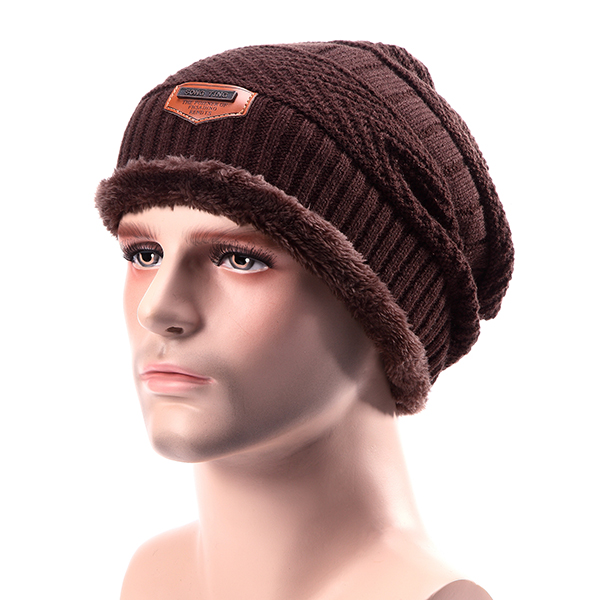 Men Knitted Slouch Beanie Hat